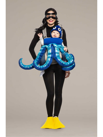 Scuba Diver & Octopus Baby Carrier Costume Kit  bur 1