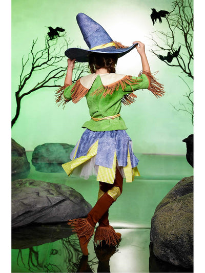 Silly Scarecrow Costume for Girls  yel alt1