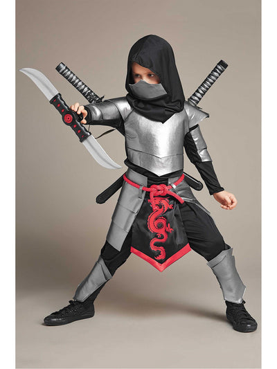 Silver Ninja Costume For Boys
