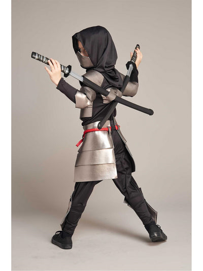 Silver Ninja Costume For Boys  mlt alt1