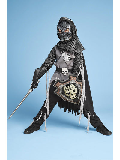 Skeleton Knight Costume For Boys