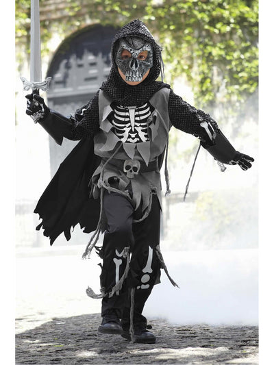 Skeleton Knight Costume For Boys  bla alt1