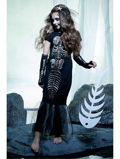 Skeleton Mermaid Costume for Girls  bla alt1