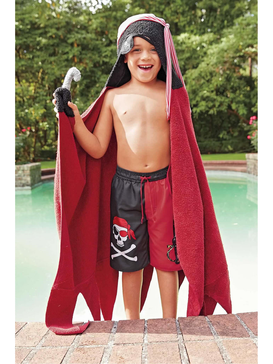 Skull Pirate Hooded Towel