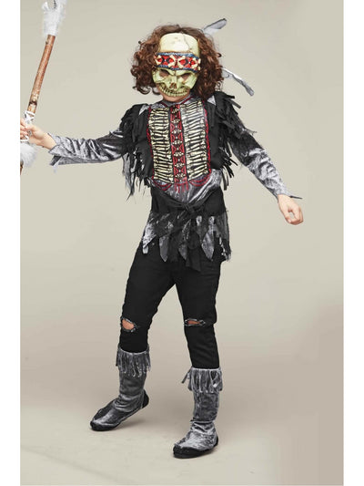 Skull Warrior Costume for Boys  gra alt1