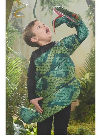 Snake Eating Boy Costume  gre alt1