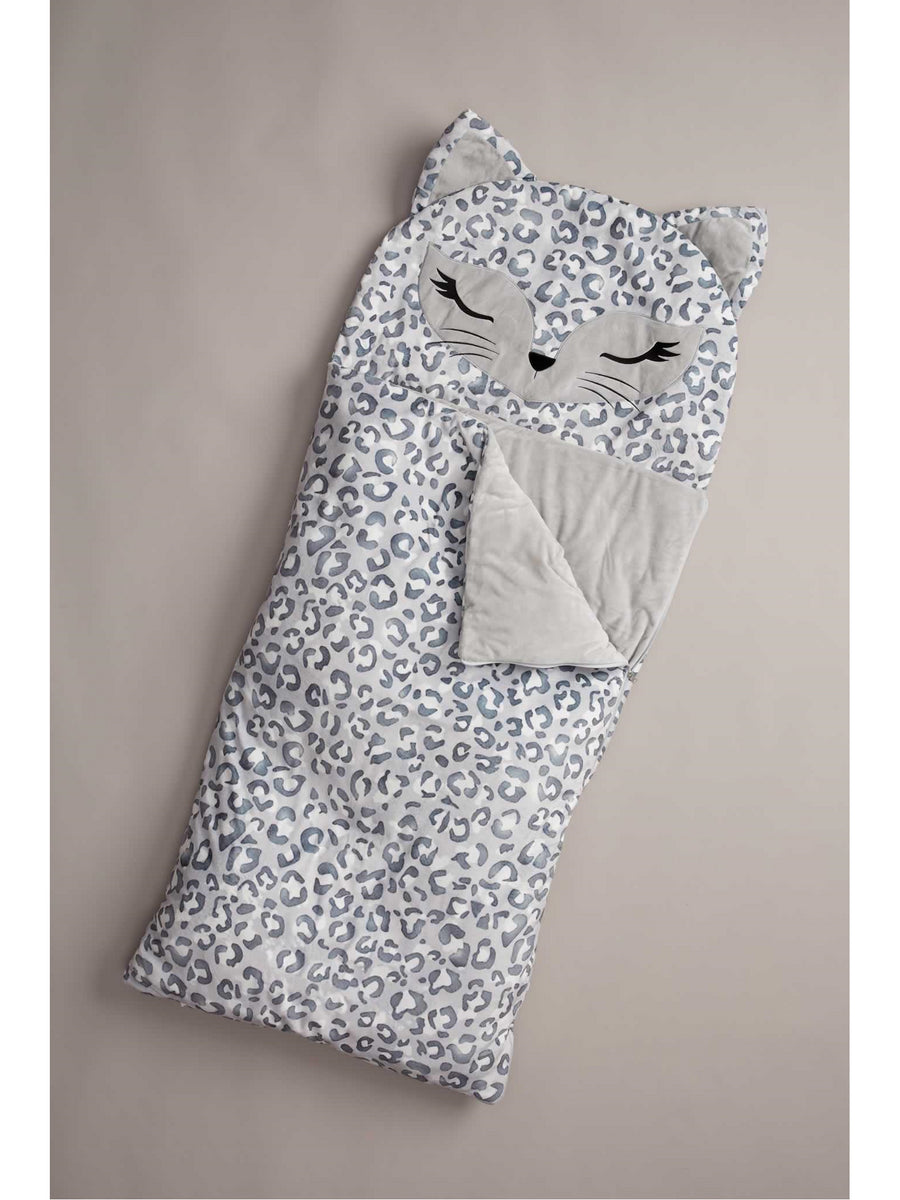 Kids Snow Leopard Sleeping Bag