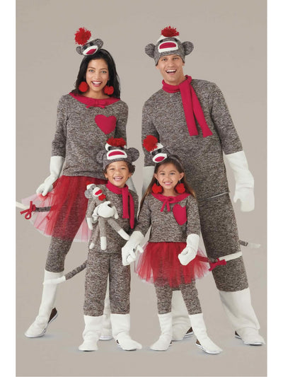Sock Monkey Costume For Boys  bro alt1