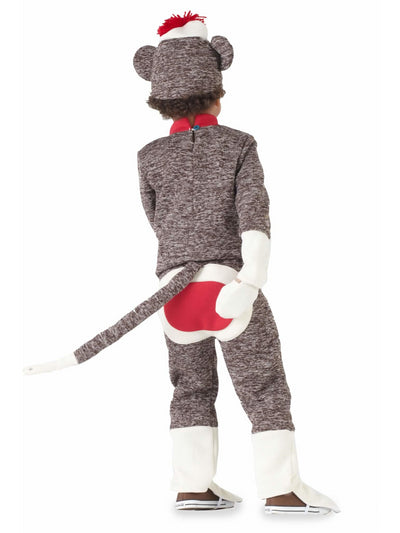 Sock Monkey Costume For Boys  bro alt2
