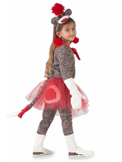 Sock Monkey Costume For Girls  bro alt2
