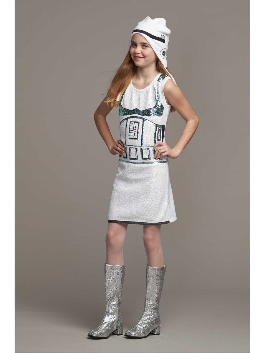 Stormtrooper™ Sequin Dress Costume for Girls