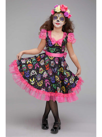 Sugar Skull Sweetie Costume for Girls