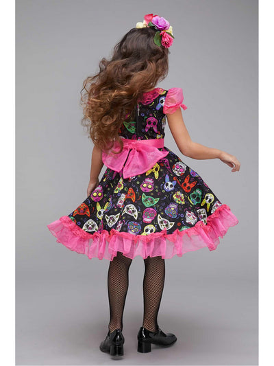 Sugar Skull Sweetie Costume for Girls  pin alt2