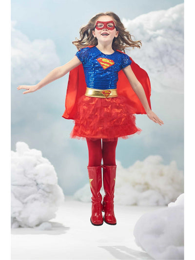 Supergirl Costume for Girls  red alt1