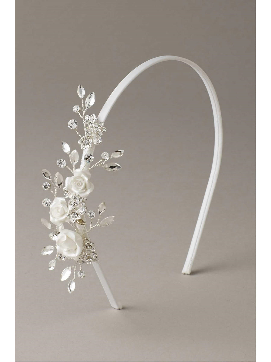 Girls Swarovski® Crystal Vine Headband