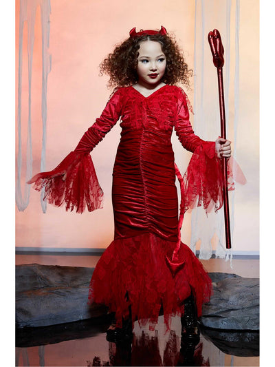 Sweet Devil Costume for Girls  red alt1