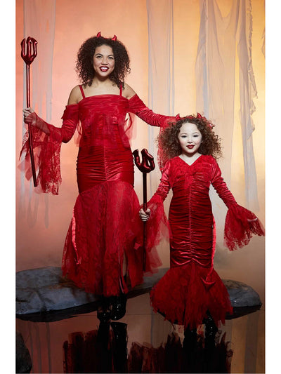 Sweet Devil Costume for Girls  red alt2