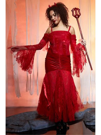 Sweet Devil Costume for Women  red alt1