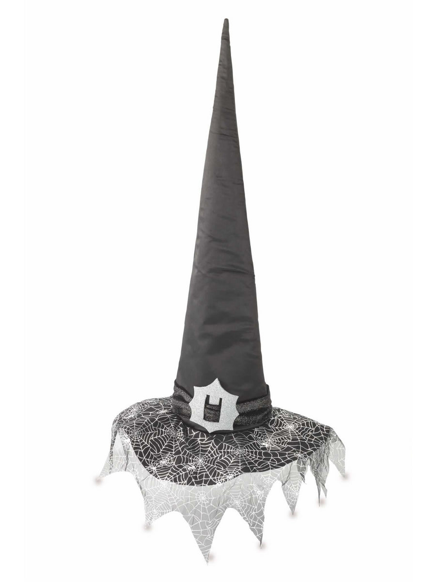 Tall Spiderweb Witch Hat