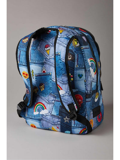 Terez Denim Emoji Backpack  den alt1