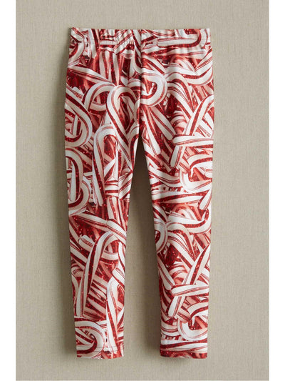 Terez Glitter Candy Cane Leggings