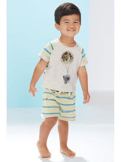 The Moon & Back Textra Striped Raglan Cuff Tee for Baby