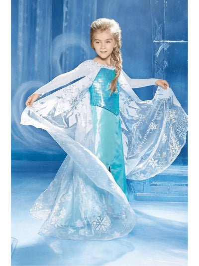 The Ultimate Collection Elsa Costume for Girls  blu alt1