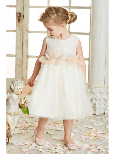Tulle Blossom Dress for Girls  whi alt1