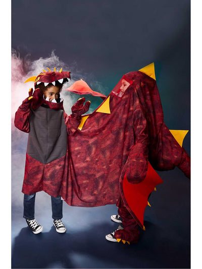 Two-Person Dragon Costume for Kids  red alt1