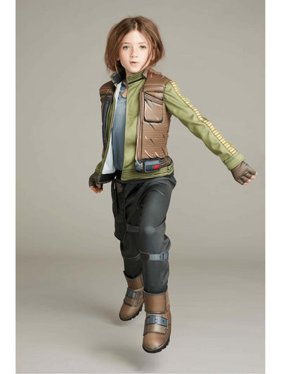 Ultimate Jyn Erso™ Costume For Kids - Star Wars  gre alt1