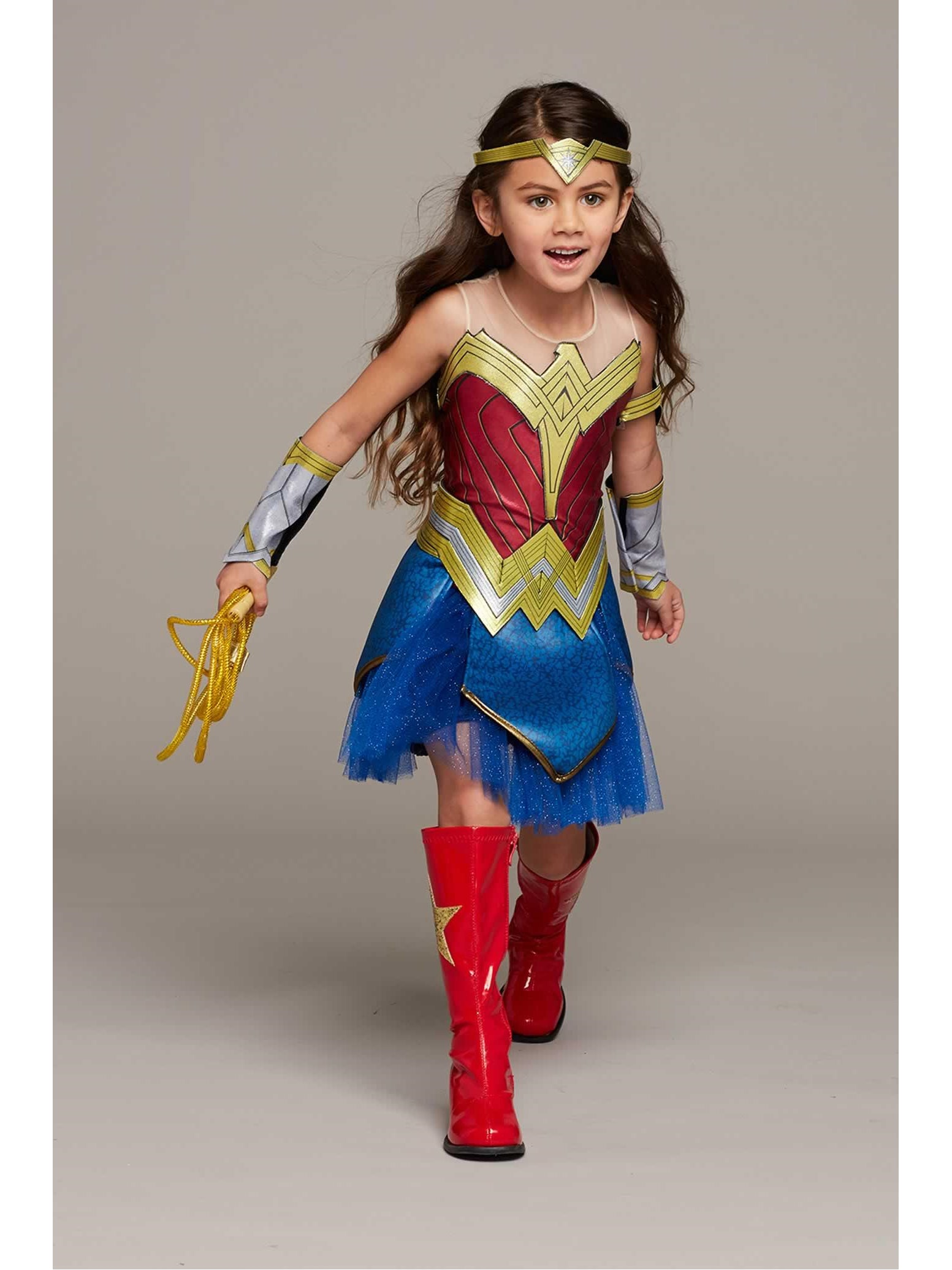 Ultimate Wonder Woman Costume For Girls Chasing Fireflies