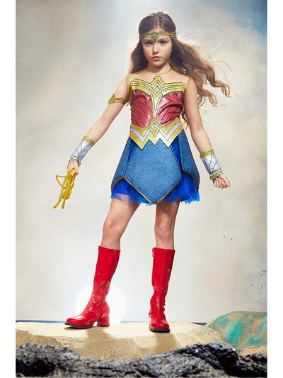 Ultimate Wonder Woman Costume for Girls  blu alt1