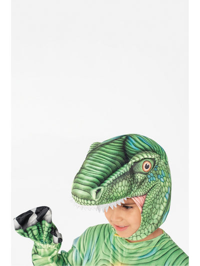 Velociraptor Costume for Kids  green alt1