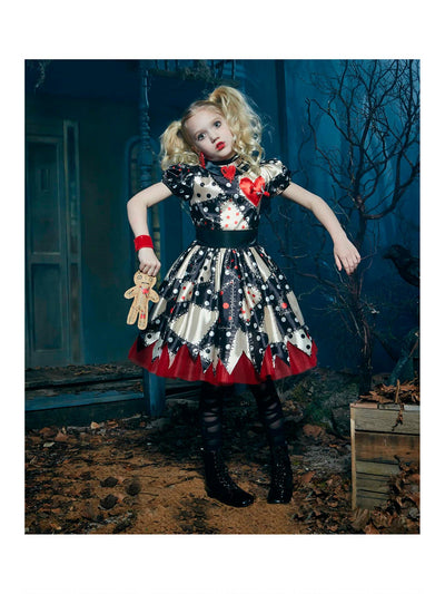 Voodoo Doll Costume For Girls  bla alt1