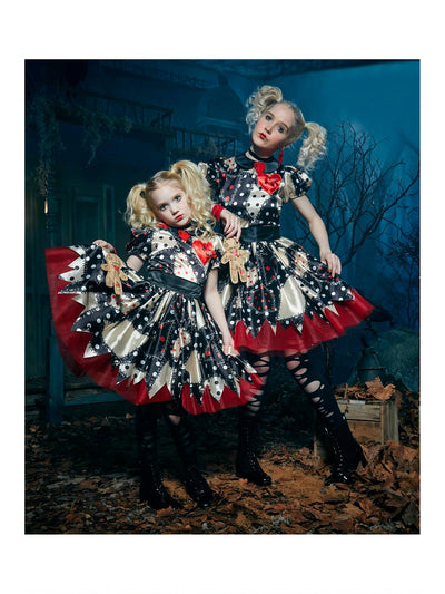 Voodoo Doll Costume For Girls  bla alt2