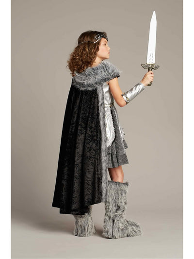 Warrior Costume For Girls  sil alt2