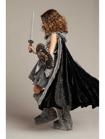 Warrior Costume For Girls  sil alt3