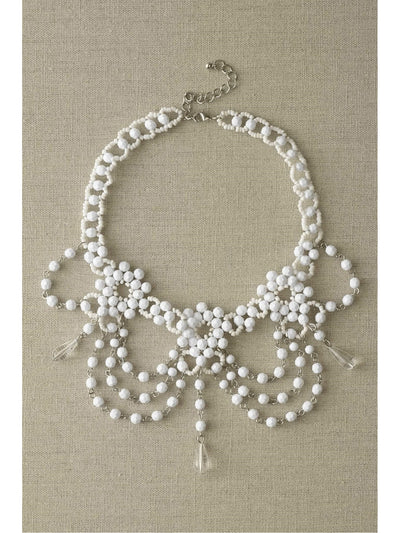 White Beaded Choker