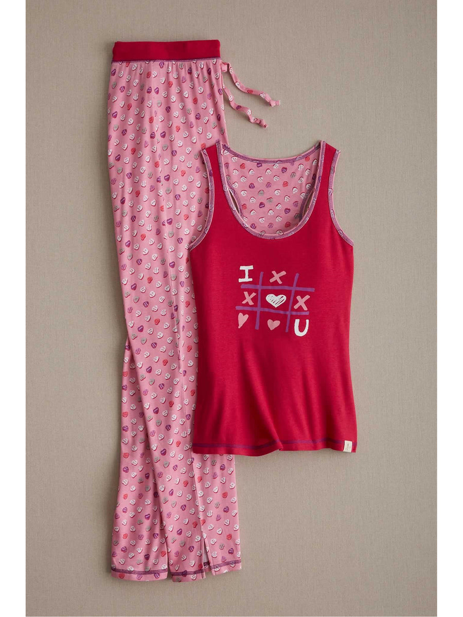 Womens Candy Hearts Pj's