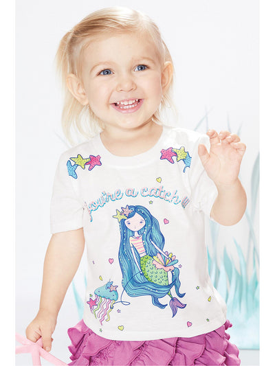 You're a Catch Mermaid Tee for Baby  white alt1