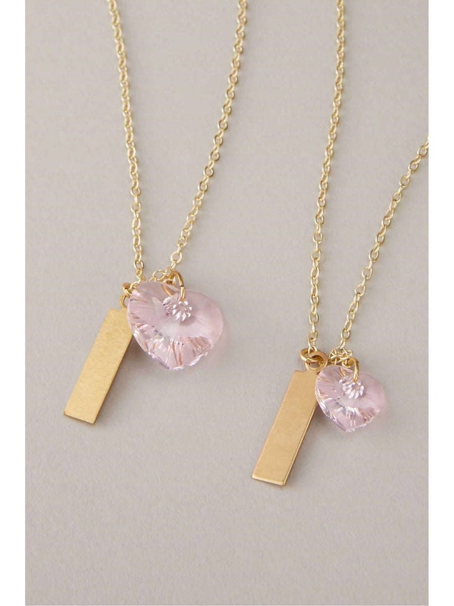 You & Me Swarovski® Heart Necklaces