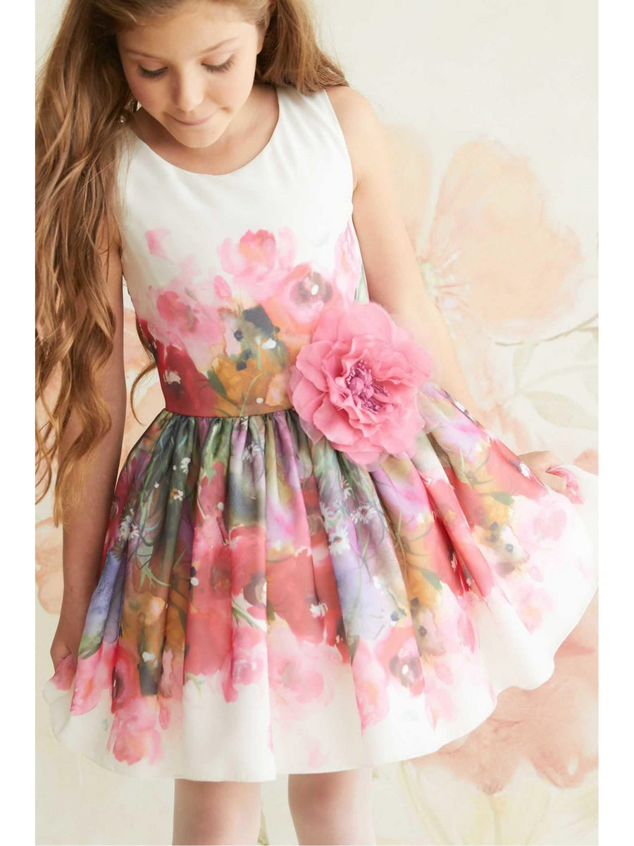 Zoe Peony Girls Dress