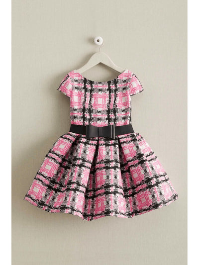 Zoe Pretty In Pink Plaid Girls Dress
