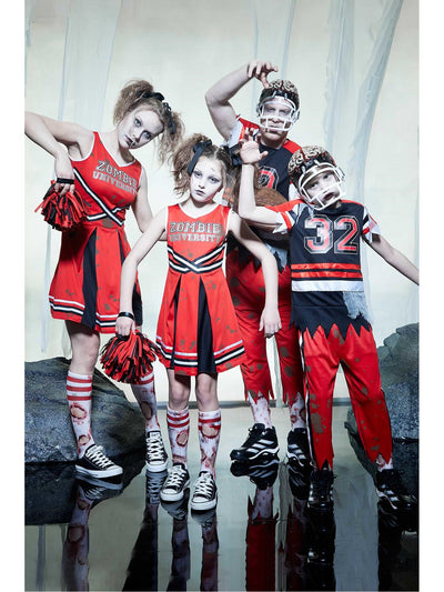 Zombie Cheerleader Costume for Girls  red alt2