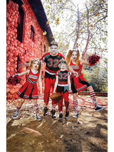 Zombie Cheerleader Costume for Girls  red alt3