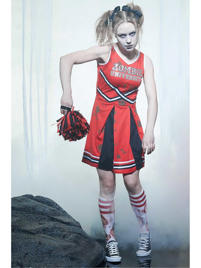 Zombie Cheerleader Costume for Women  red alt1