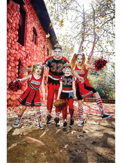 Zombie Cheerleader Costume for Women  red alt3