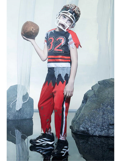 Zombie Football Player Costume For Boys  red alt1
