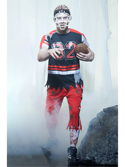 Zombie Football Player Costume for Men  red alt1