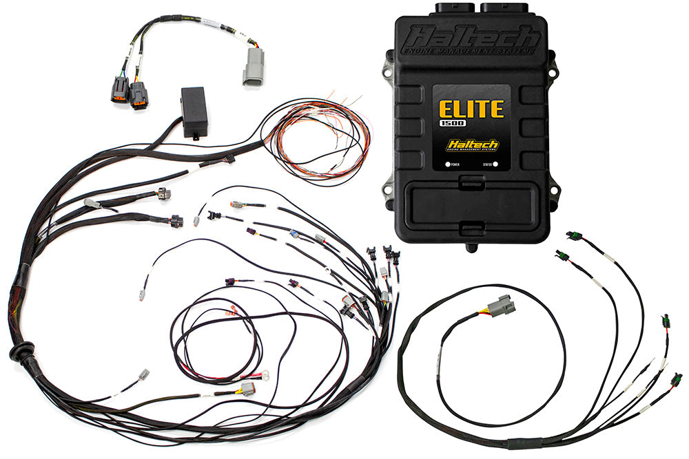 Elite 1500 with RACE FUNCTIONS - Mazda 13B S6-8 Terminated Harness ECU Kit 1